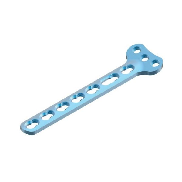 """3.5mm Wise-Lock Small """"T"""" Plate, Right Angled (3 Head Holes)"""